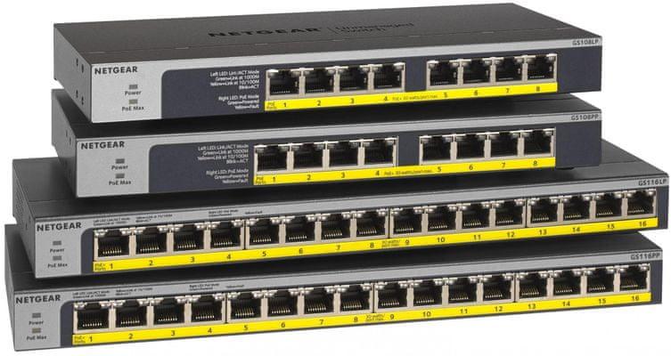 Switch Netgear GS116 (GS116GE) nagy sebesség 16 port