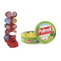Pulmoll bonboni, limeta in mentol + vitamin C, 10 x 45 g