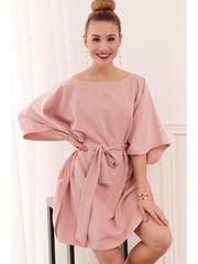 Amando Oversize šaty 0226 tmavoružové