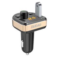 DUDAO R2Pro Bluetooth FM Transmitter autós töltő 2x USB 3.4A, fekete
