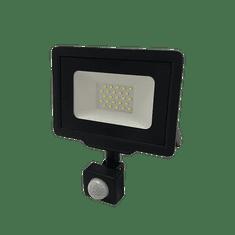 Optonica LED reflektor SMD CITY PIR IP65 černý 30W 2700K