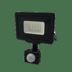 Optonica LED reflektor SMD CITY PIR IP65 černý 10W 6000K
