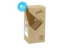 INFIBRA Papírové ubrousky BIO-EKO Infibra 2vrstvy 38x38cm sklad 1/8 béžová - 9x40ks