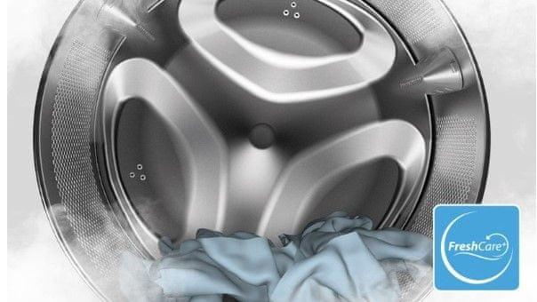 Volně stojící pračka s předním plněním Whirlpool FWD81284WC EE funkce FreshCare+ Clean+