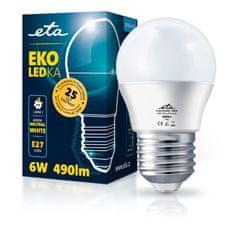 ETA LED žarulja, G45, E27, 6 W, neutralno bijela