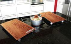 Stoneline Krycí desky na sporák / prkénko sada 2 ks design dřevo