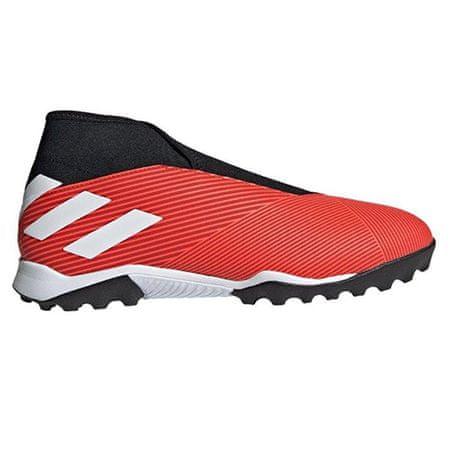 Adidas Buty piłkarskie NEMEZIZ 19.3 Laceless TURF RED / WHITE, Mężczyźni G54686 | BIAŁO - CZERWONY 46 2/3
