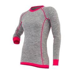 Tufte Dámske tričko Bambull Grey Melange ŠEDÁ / RUŽOVÁ, ženy | trikobambullW | ŠEDÁ-RUŽOVÁ | L