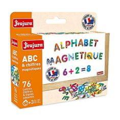 Jeujura Farebná magnetická písmenká 76ks, Rozmery: 17x15x4 cm Vek: 3+