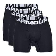 Under Armour Bokserki Charge Cotton 6 in 3 Pack BLACK / WHITE, Mężczyźni 1327426–001 | CZARNY BIAŁY Z