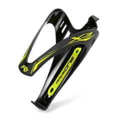 RaceOne X3 RACE košík na láhev - černo/žlutý matný
