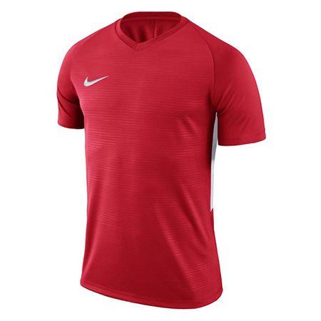 Nike Y NK DRY TIEMPO PREM JSY SS, 10   PIŁKA NOŻNA / PIŁKA NOŻNA   MŁODZIEŻ UNISEX TOP Z KRÓTKIM RĘKAWEM   UNIVERSITY RED / UNIVERSITY RED /   M.