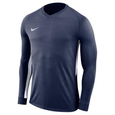 Nike Y NK DRY TIEMPO PREM JSY LS, 10.   FABOTBALL / FOCCER   YOUTH UNISEX Hosszú ujjú felső   MIDNIGHT NAVY / MIDNIGHT NAVY / WH   XL