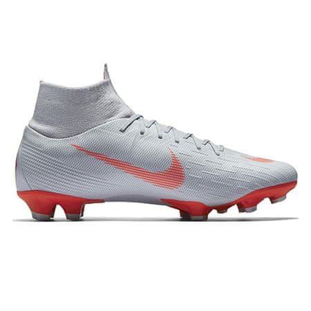 Nike SUPERFLY 6 PRO FG, 20. | FABOTBALL / FOCCER | Felnőtt UNISEX HIGH TOP | WOLF GREY / LT CRIMSON-PURE PLAT | 11