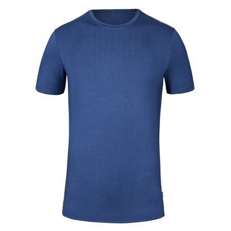 Tufte Tuftowa sukienka z okrągłym dekoltem Blues Koszulka DARK BLUE, Mężczyźni crewneckblues   CIEMNY NIEBIESKI XL