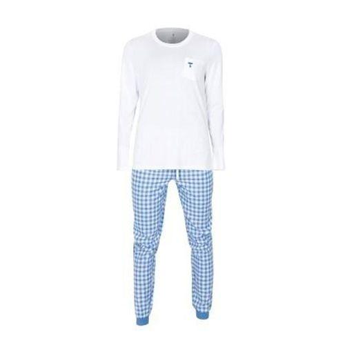 Tufte Dámske pyžamo White / Light Blue Checkers BIELA / MODRÁ, ženy   pyzamoW   BIELA-MODRÁ   XL