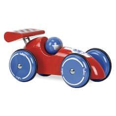Vilac a Závodné auto XL červené s modrými kolesami, Rozmery: 23x11,5x12,5 cm Vek: 3+ Materiál: drevo