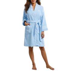 Ralph Lauren Szlafrok The Greenwich Robe BLUE, Unisex | I814414-455 | NIEBIESKI M.