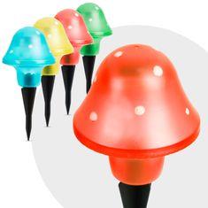 GARDEN OF EDEN 5x LED solarna svetilka v obliki gobe več barv