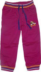 KUGO Dívčí fialové tepláky s obrázkem bot.