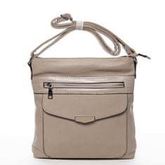 Romina & Co. Bags Praktická dámska koženková crossbody kabelka Stylish Ann, béžová