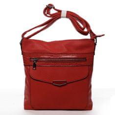 Romina & Co. Bags Praktická dámska koženková crossbody kabelka Stylish Ann, červená