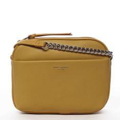 David Jones Menší koženková kabelka Little lady, žlutá