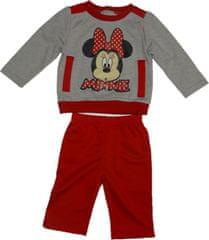 Disney Dívčí tepláková souprava s Minnie v červené a šedé barvě.