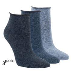 RS Dámské zdravotní letní kotníkové bavlněné ponožky bez gumiček 3Pack