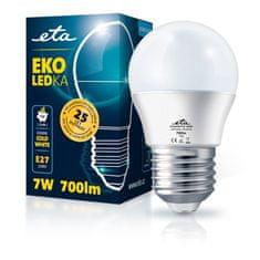 ETA LED žarnica, G45, E27, 7 W, hladno bela