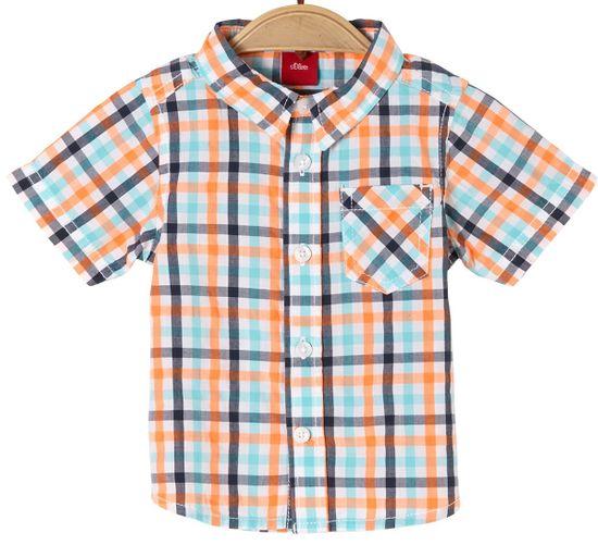 s.Oliver chlapčenská košeľa 92 viacfarebná