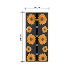 Delight Magnetna mreža proti komarjem za vrata 210 x 100 cm sončnice