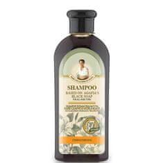 Babička Agafia Zpevňující šampon na bázi černého mýdla - 350 ml