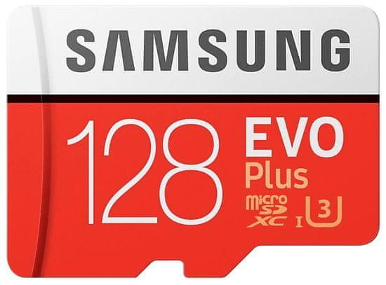SAMSUNG micro SDXC 128GB EVO Plus + SD adaptér (MB-MC128HA/EU)
