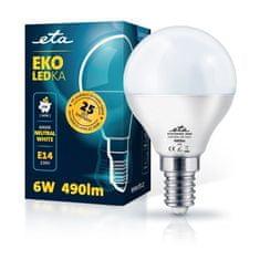 ETA LED žarnica, P45, E14, 6 W, nevtralno bela