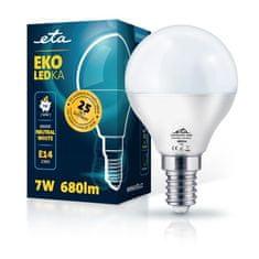 ETA LED žarnica, P45, E14, 7 W, nevtralno bela
