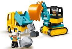 LEGO DUPLO® Town 10931 Teherautó és lánctalpas kotrógép