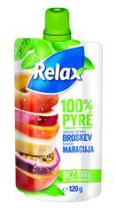 Relax 100 % pyré Jablko-Mrkva-BROSKYŇA-Banán-MARACUJA 12x 120 g