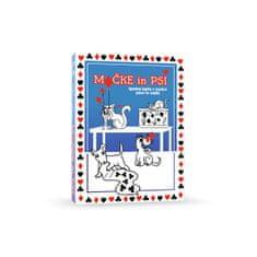 Value Add Games Mačke in psi družabna igra, karte