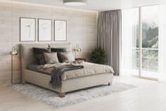 We-Tec Manželská posteľ ANITA 2 bez olemovania, béžová, 180x200 cm s úložným priestorom + 2 ks bočne výklopné bukové rošty