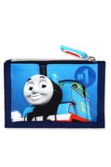 SETINO Detská chlapčenská textilná peňaženka Vláčik Tomáš - modrá