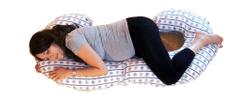 KHC Těhotenský kojící relaxační polštář Zuzanka 260 cm Kormidla na bílé Pratelný potah