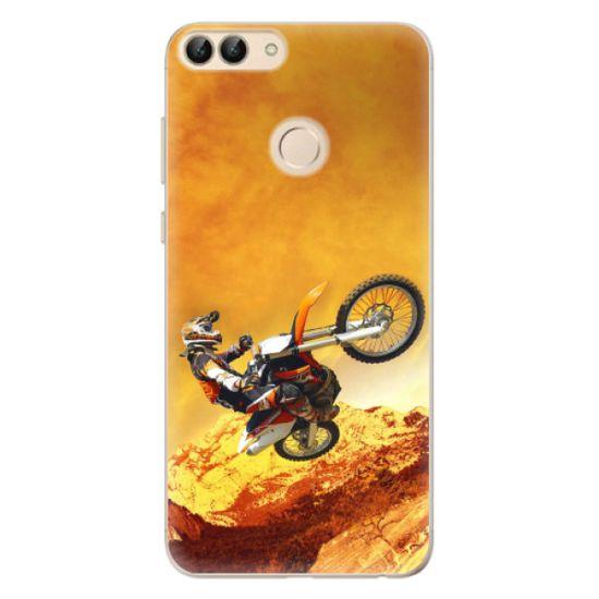 iSaprio Silikónové puzdro - Motocross pre Huawei P Smart
