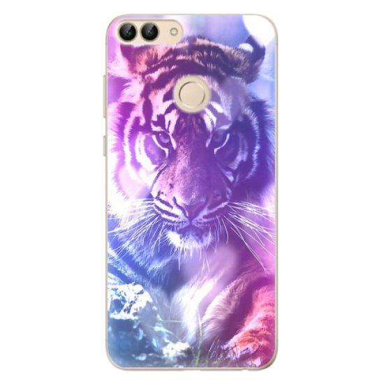 iSaprio Silikónové puzdro - Purple Tiger pre Huawei P Smart