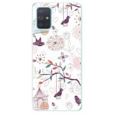 iSaprio Silikonové pouzdro - Birds pro Samsung Galaxy A71
