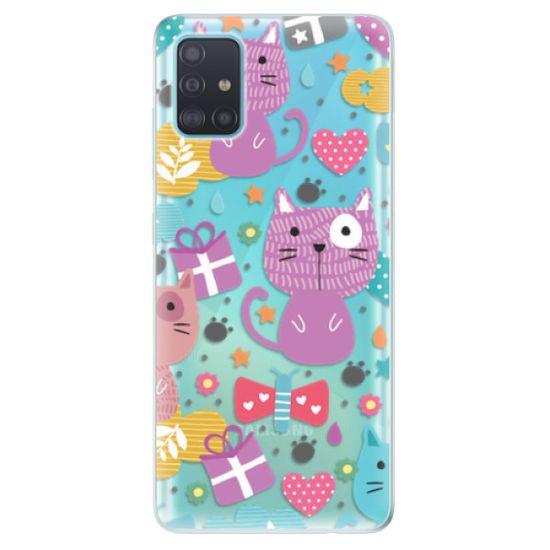 iSaprio Silikonové pouzdro - Cat pattern 01 pro Samsung Galaxy A51
