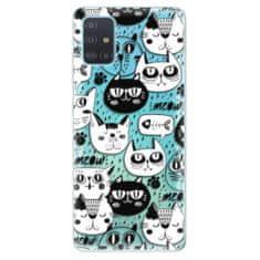 iSaprio Silikonové pouzdro - Cat pattern 03 pro Samsung Galaxy A51
