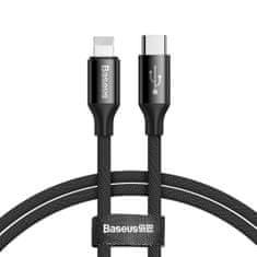 BASEUS Yiven kábel USB-C / Lightning 2A 1m, fekete