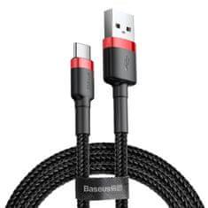 BASEUS Cafule kabel USB / USB-C QC 3.0 2A 3m, černý/červený