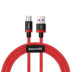 BASEUS Purple Gold Red kabel USB / USB Type-C QC 3.0 1m, červený